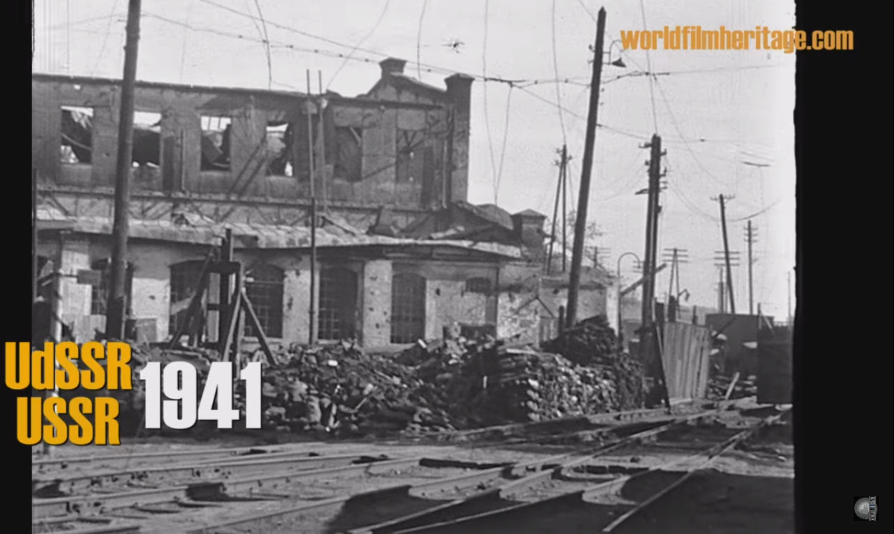Кинохроники Днепропетровск 1941