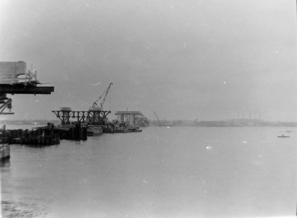 Набережная Днепр Строительство Нового моста 1965