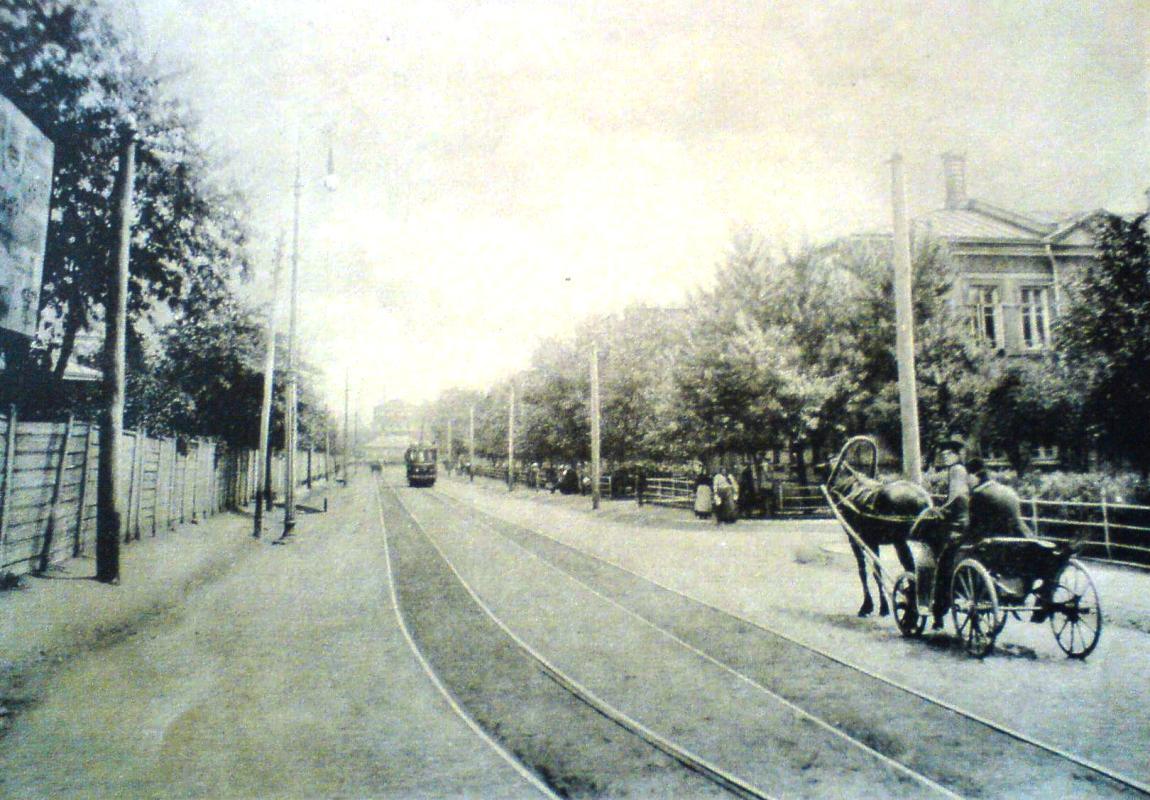 Трамвайная линия на ул. Комендантская